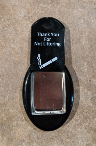 Pocket ashtray opened
